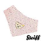 STEIFF德國金耳釦泰迪熊 - 粉紅 點點 領巾 (嬰幼兒衛浴系列)