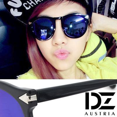 DZ-風潮短箭矢飾-抗UV造型墨鏡-深藍膜