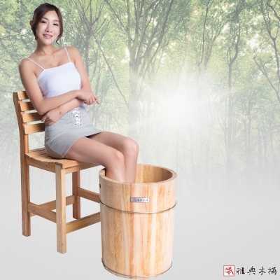 雅典木桶 珍貴國寶級檜木 泡腳桶(高39CM)