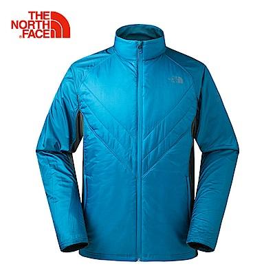 The North Face北面男款藍色運動保暖防風外套