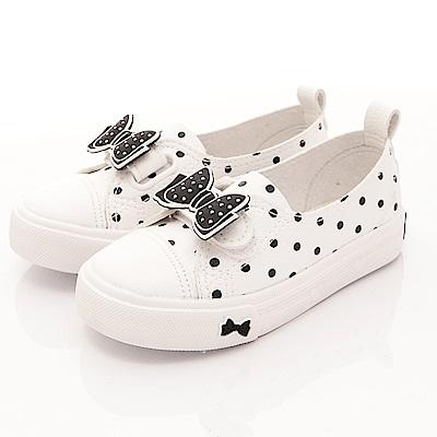 日本娃娃 甜美點點休閒鞋款 FO010 白 (中大童段)T1