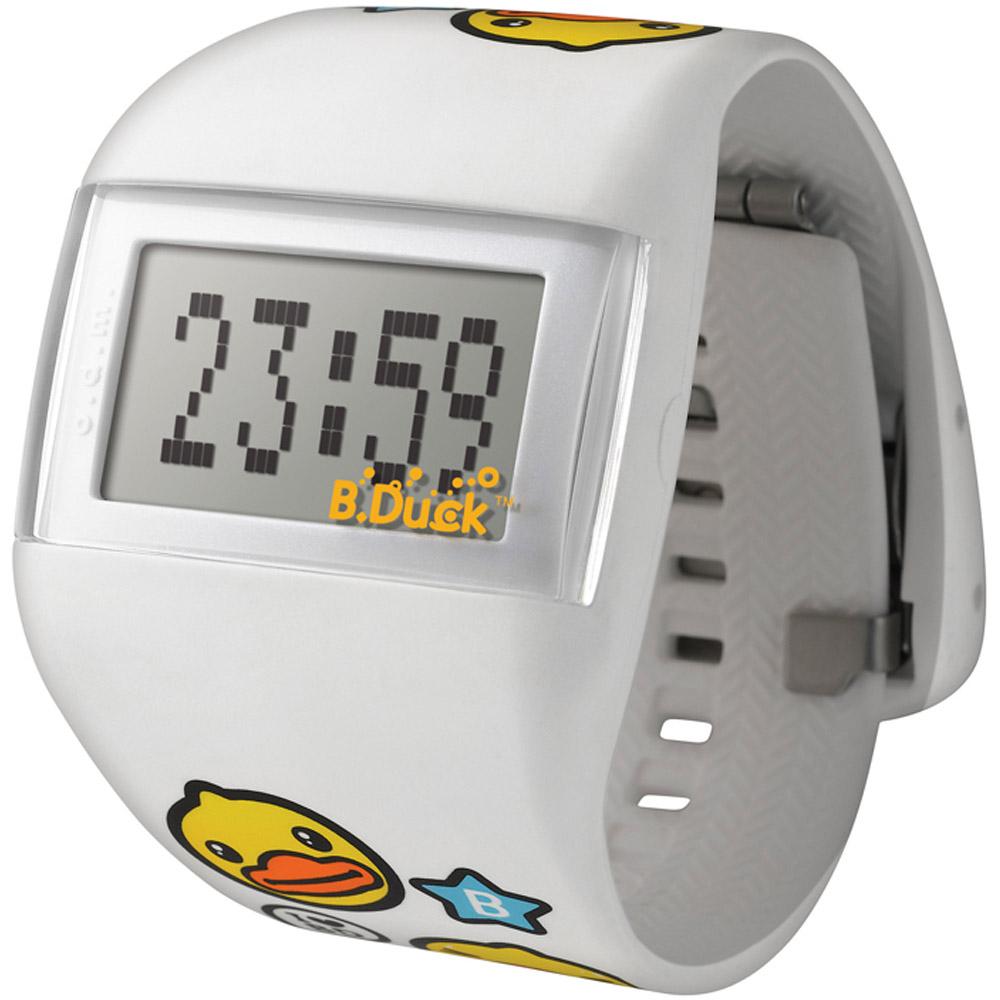 o.d.m. 黃色小鴨  聯名設計悠遊全世界電子潮流腕錶-白/43mm