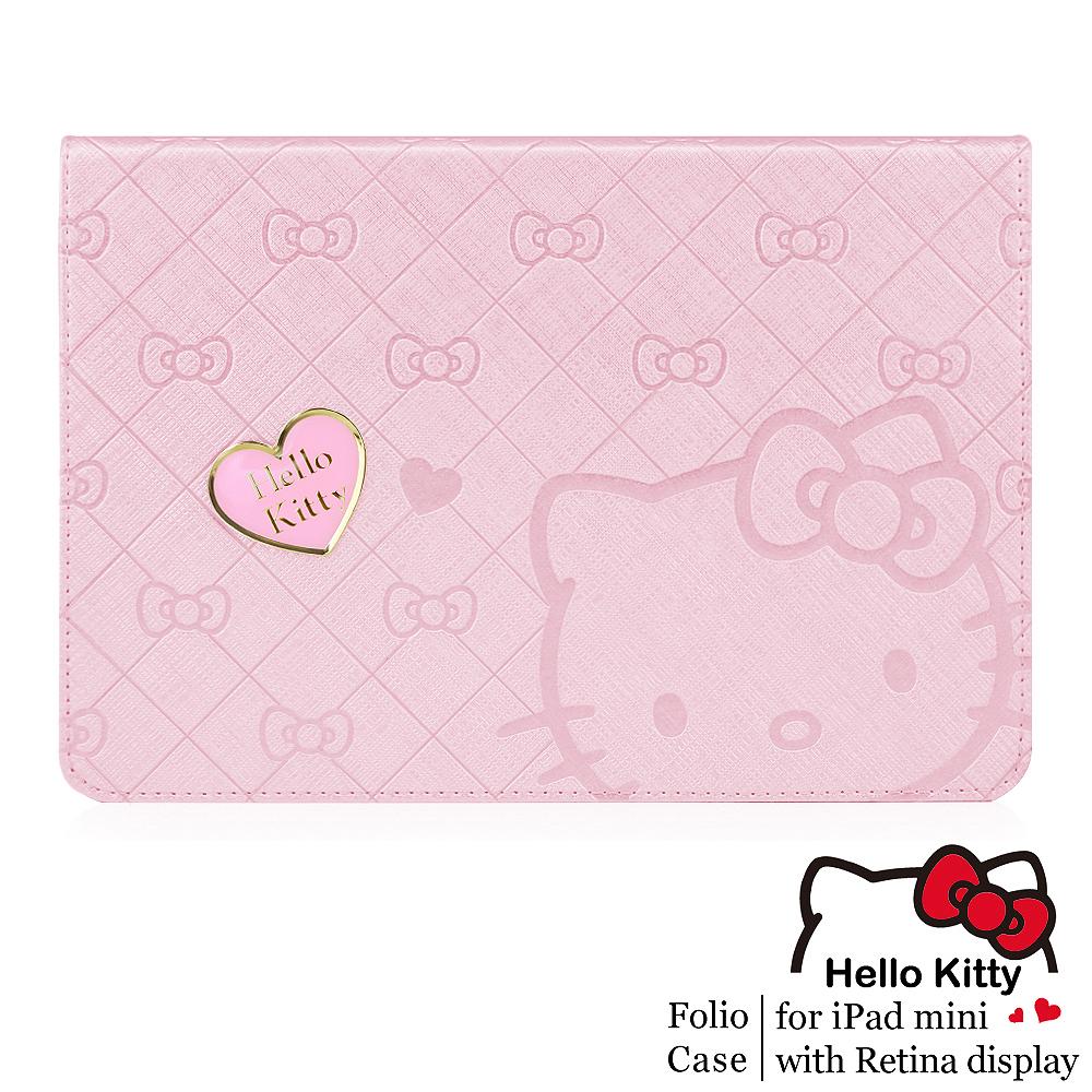 GARMMA Hello Kitty iPad Mini2 Retina摺疊式皮套–寵愛粉
