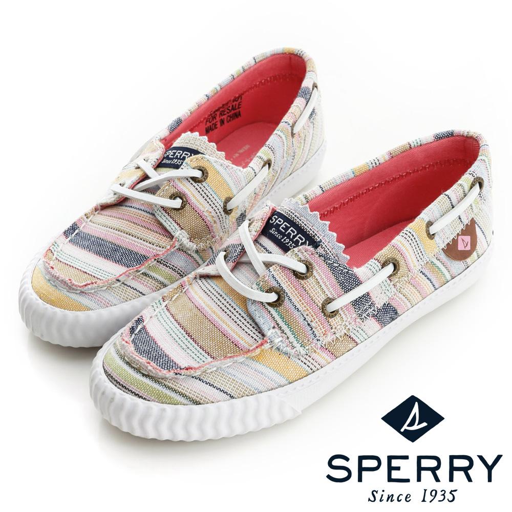 SPERRY美式休閒鞋(女童)-條紋