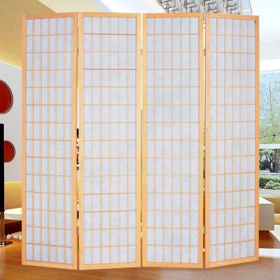 時尚屋 和風實木5.8尺方格屏風 寬176cm 多色可選-免組