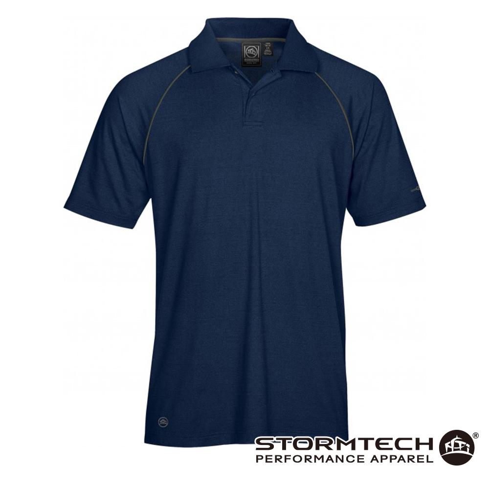 【加拿大STORMTECH】IPS-4 吸濕排汗抗UV POLO衫-男 (深藍)