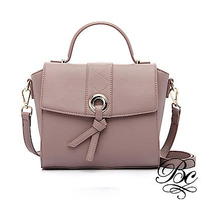 BELLUCY 個性時尚復古手提小方包(藕紫色)