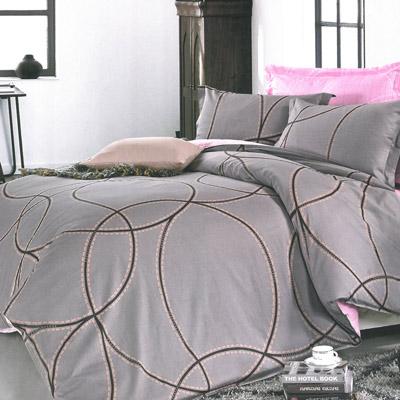 美夢元素 精梳純棉涼被床包組雙人加大四件式愛的痕跡 咖