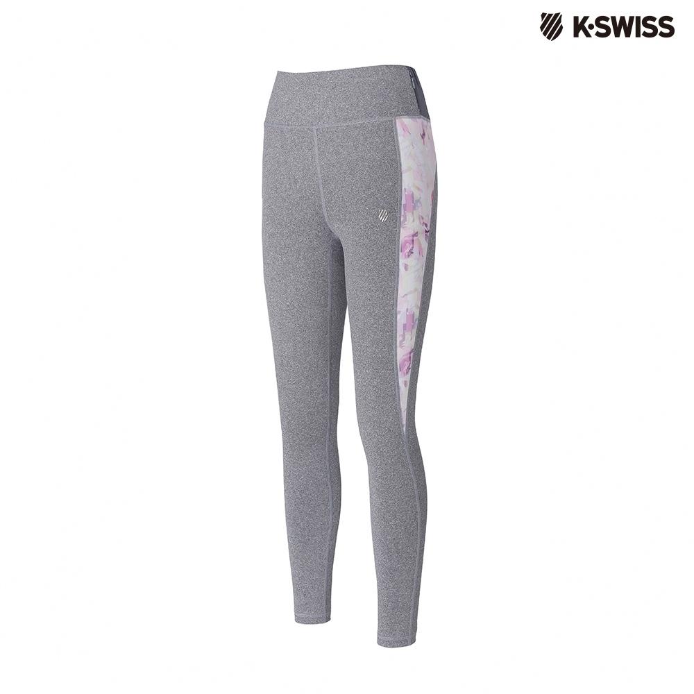 K-SWISS Leggins運動緊身褲-女-灰
