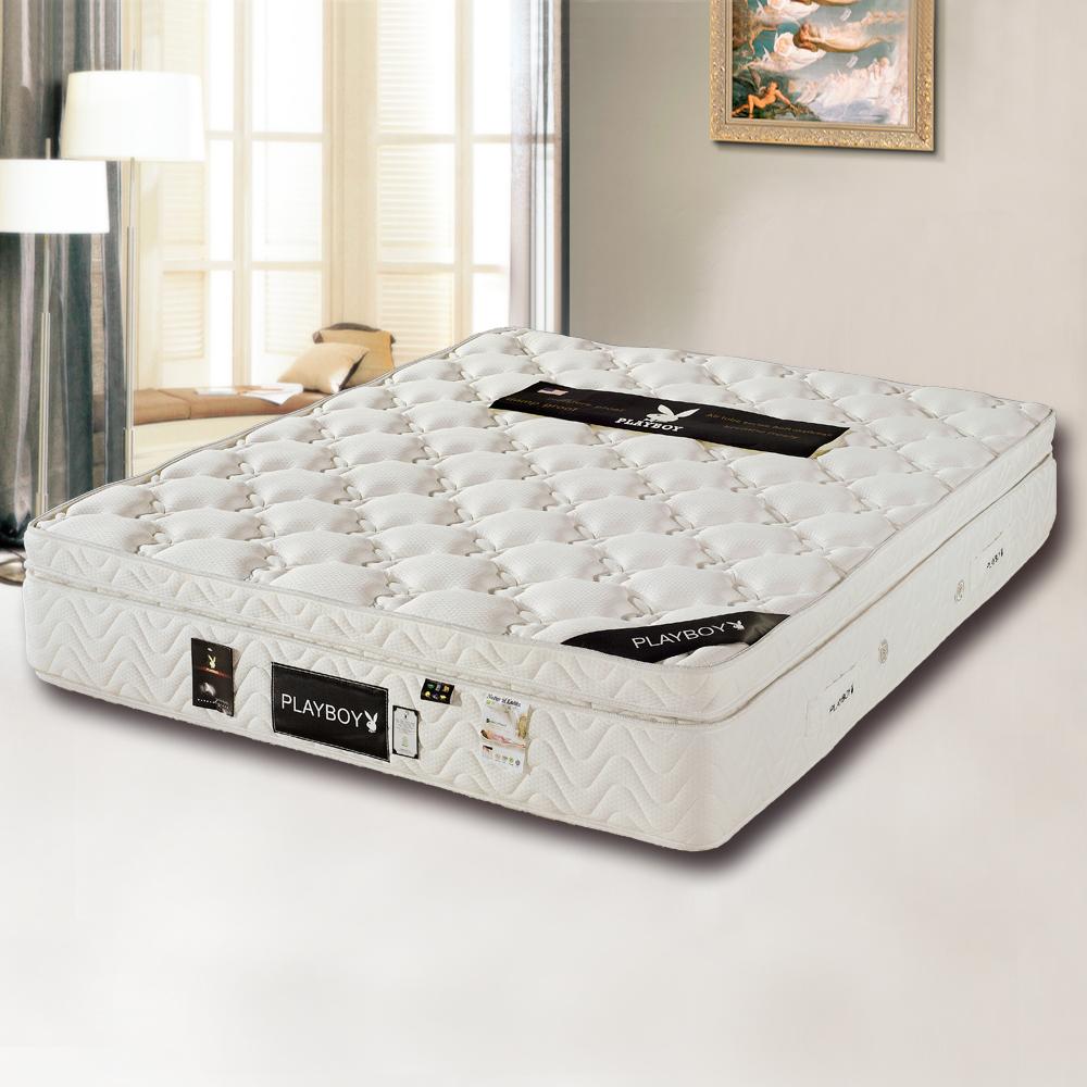 PLAYBOY 三線乳膠硬式獨立筒床墊-特大6x7呎