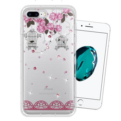 WT iPhone 8 Plus/ 7 Plus 奧地利水晶彩繪空壓手機殼(璀璨...
