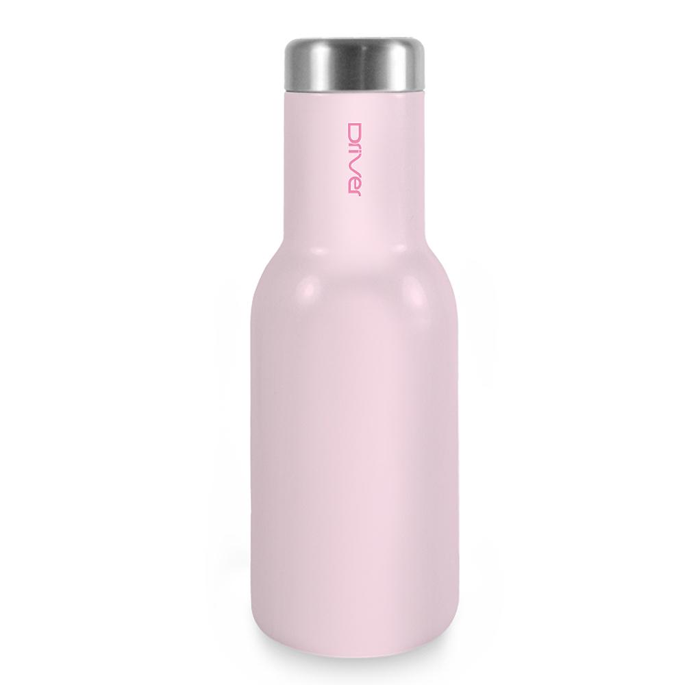 Driver時尚冷熱兩用保溫瓶380ml-粉紅