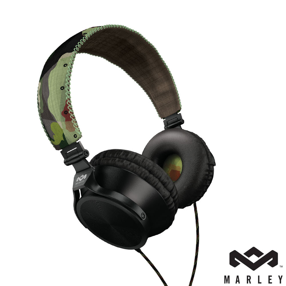 Marley Revolution 頭戴式耳機麥克風(迷彩綠)