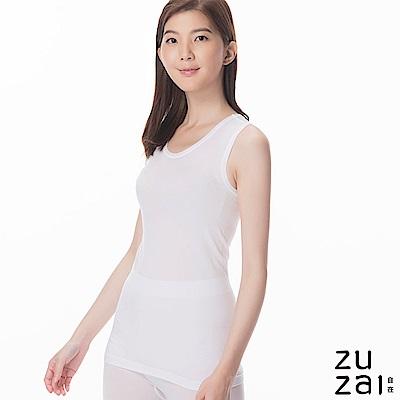 zuzai 自在親膚羽感無袖保暖衣-女-白色
