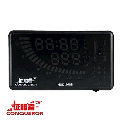 征服者 HUD1088 抬頭顯示型 WIFI更新固定測速器