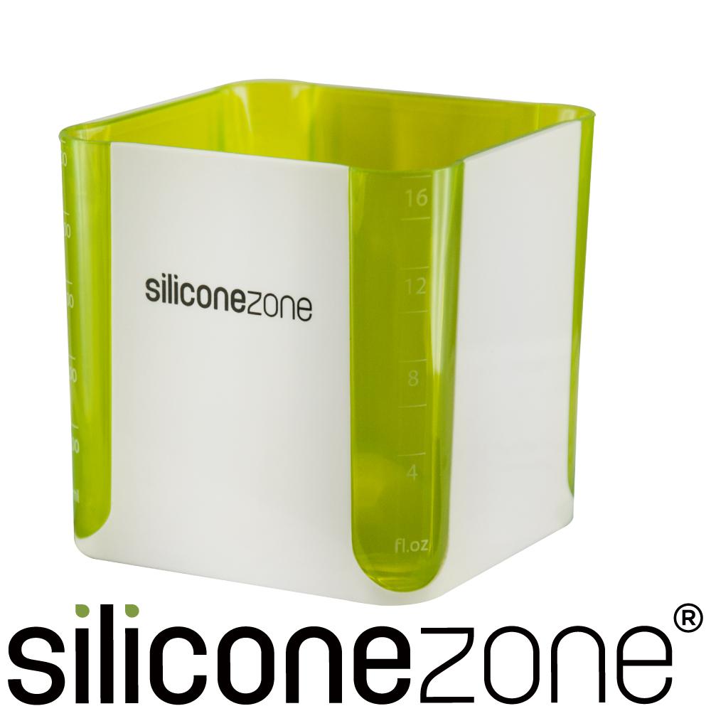 Siliconezone 施理康520ml耐熱立方造型計量杯&計量匙-綠色