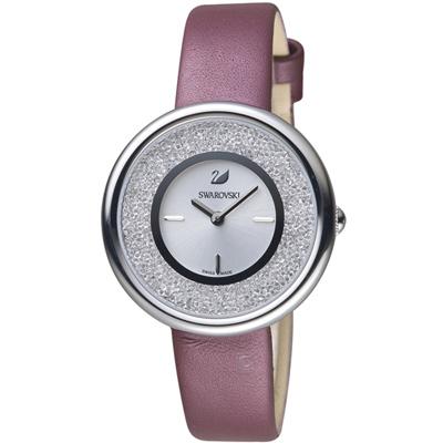 SWAROVSKI 施華洛世奇 Crystalline 璀璨耀眼時尚腕錶-34mm/銀x紫