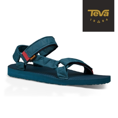 TEVA 美國-男 Original Puff 經典緹花織帶涼鞋 (深藍)