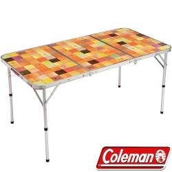 Coleman 26750 自然風抗菌摺疊桌 140x70cm 公司貨戶外行動廚房/露營炊