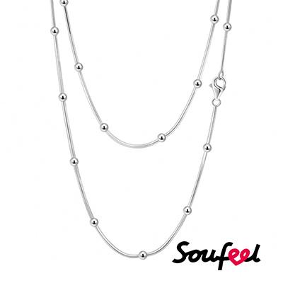 SOUFEEL索菲爾 925純銀雙層項鍊 流珠