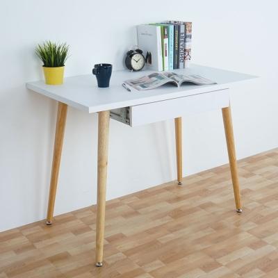 Homelike 貝莎北歐風附抽書桌(兩色可選)-100x60x74.5cm