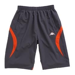 KAPPA義大利男吸濕排汗速乾3D單層半短褲 深灰 螢光橘