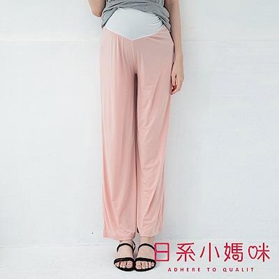 日系小媽咪孕婦裝-韓製孕婦褲~夏日素面滑布涼感瑜珈褲 (共三色)