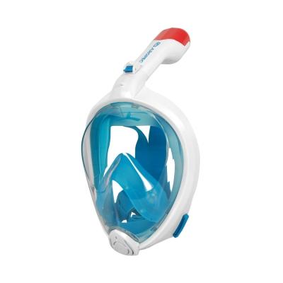 AROPEC 浮潛全罩式呼吸管面罩 藍色