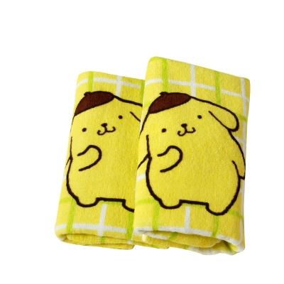 Sanrio三麗鷗授權-方格布丁狗與綠色小花毛巾(單條)