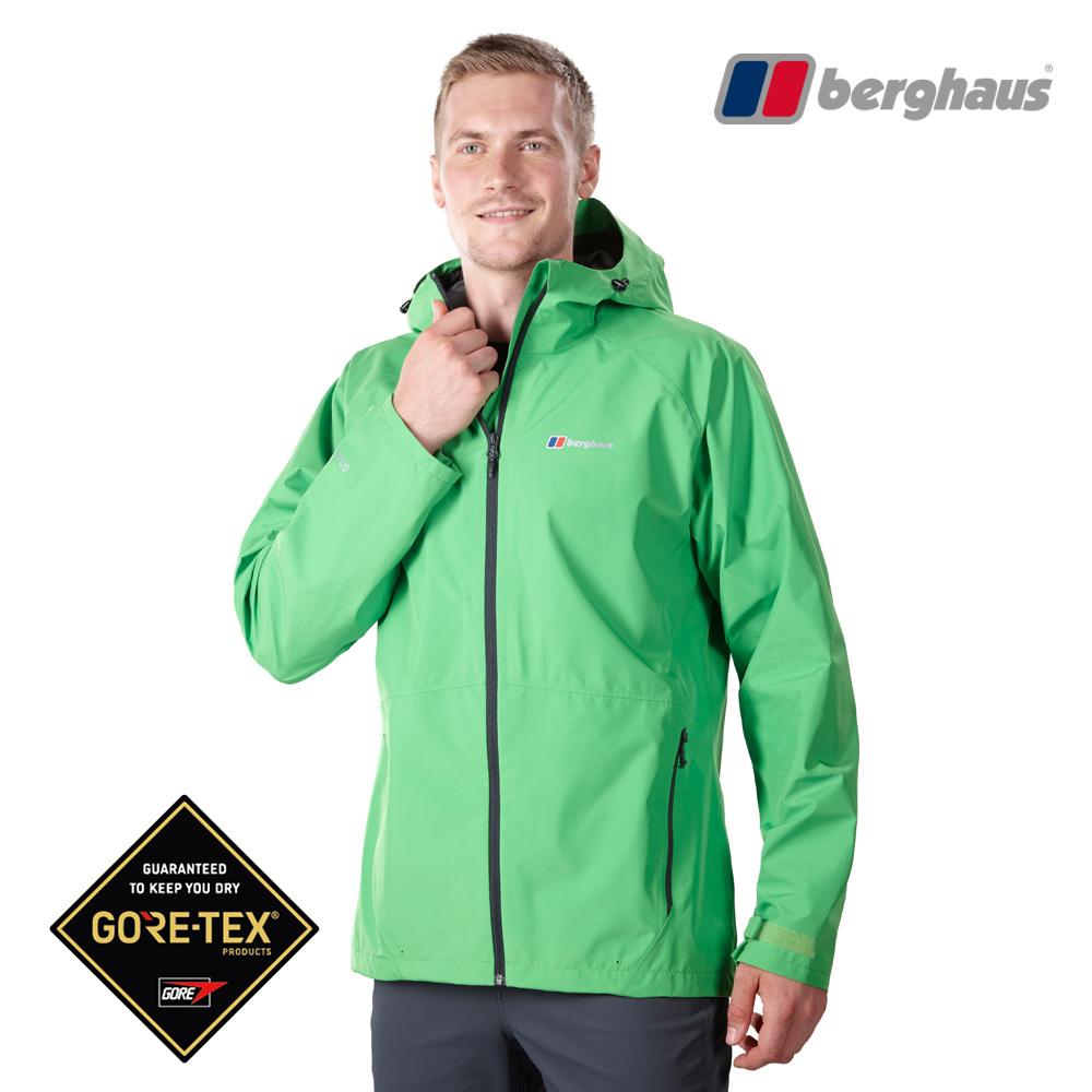 Berghaus貝豪斯男款GT輕量防水透氣連帽外套H22MV3青綠