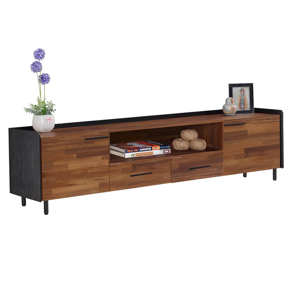 AT HOME-畢卡索5.8尺基層柚木雙色長櫃 178x50x50cm