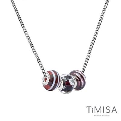TiMISA 琉璃串珠 純鈦項鍊(M02D) 套組