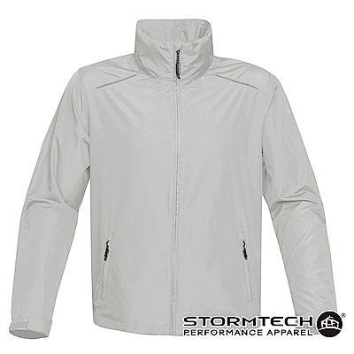 【加拿大STORMTECH】KX-1超輕量防潑透氣連帽外套-男-銀灰