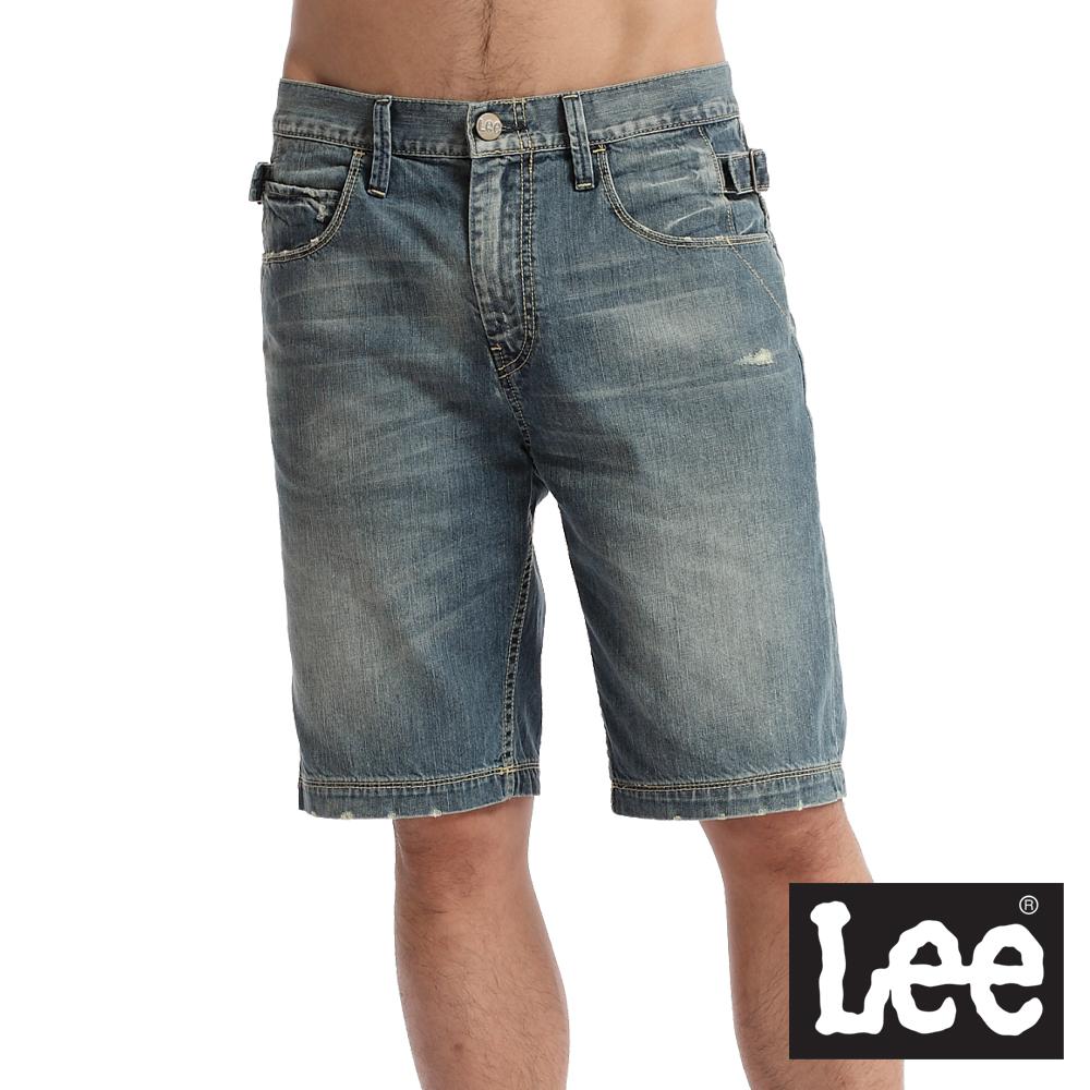 【Lee】牛仔短褲-男款(中古藍)