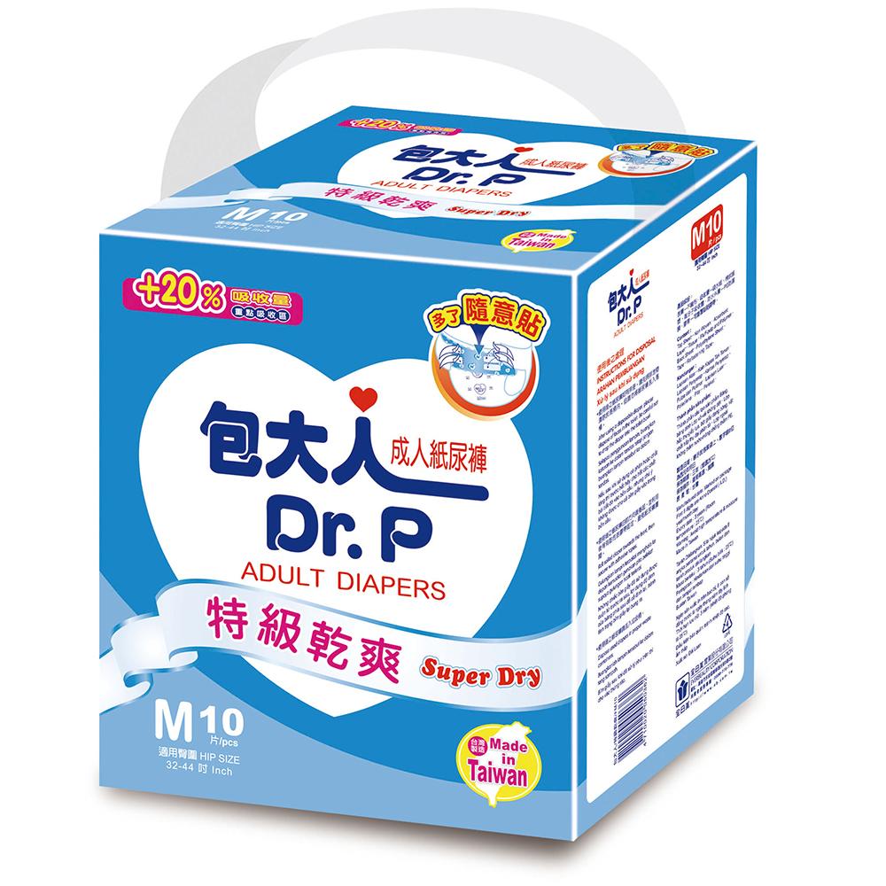 包大人紙尿褲特級乾爽型M(10片 X 12包/箱)