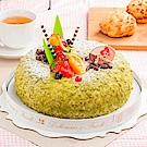 樂活e棧 生日快樂造型蛋糕-夏戀京都抹茶蛋糕(8吋/顆,共1顆)