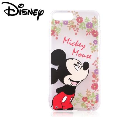 Disney迪士尼iPhone 6/6s/7 Plus共用防摔氣墊空壓保護套_賞花米奇