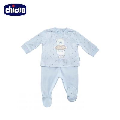 chicco冰雪小熊星星長袖套裝(3個月-12個月)