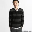 針織V領毛衣  ZIP日本男裝