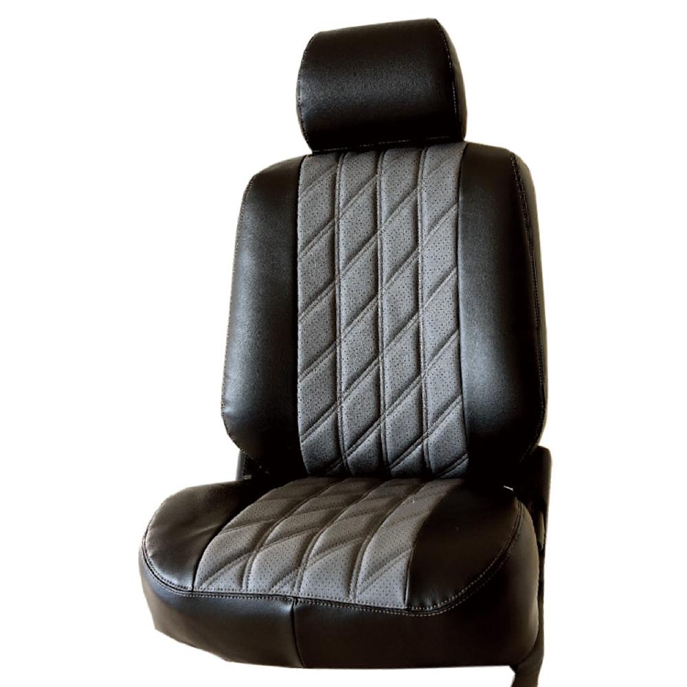 【葵花】量身訂做-汽車椅套-日式合成皮-開運格子-B款-雙前座