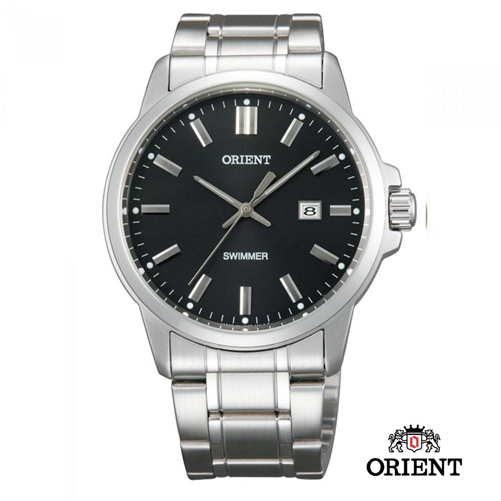 ORIENT 東方錶 OLD SCHOOL系列 復古風石英錶 鋼帶款 黑色-41mm