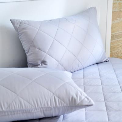 Grace Life 炫彩灰 台灣製吸濕排汗信封式保潔枕套--一對