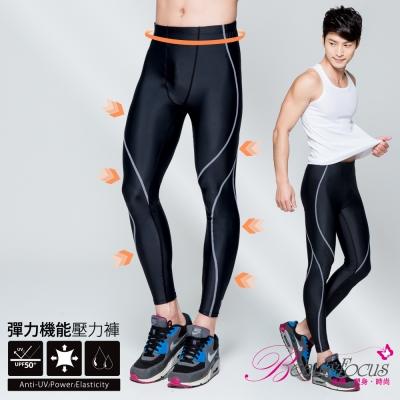 修飾內搭褲 3D彈性防曬抗縮運動內搭褲(男性專用-灰)BeautyFocus