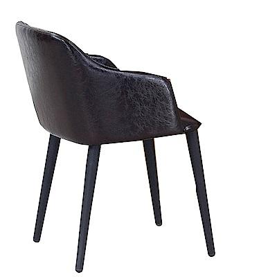 H&D 咖皮造型椅 (寬51X深50X高77cm)