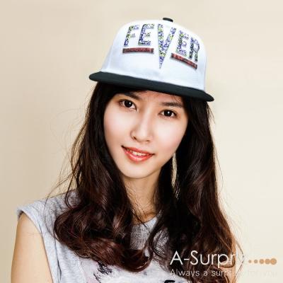 A-Surpriz FEVER字母棒球帽(白)