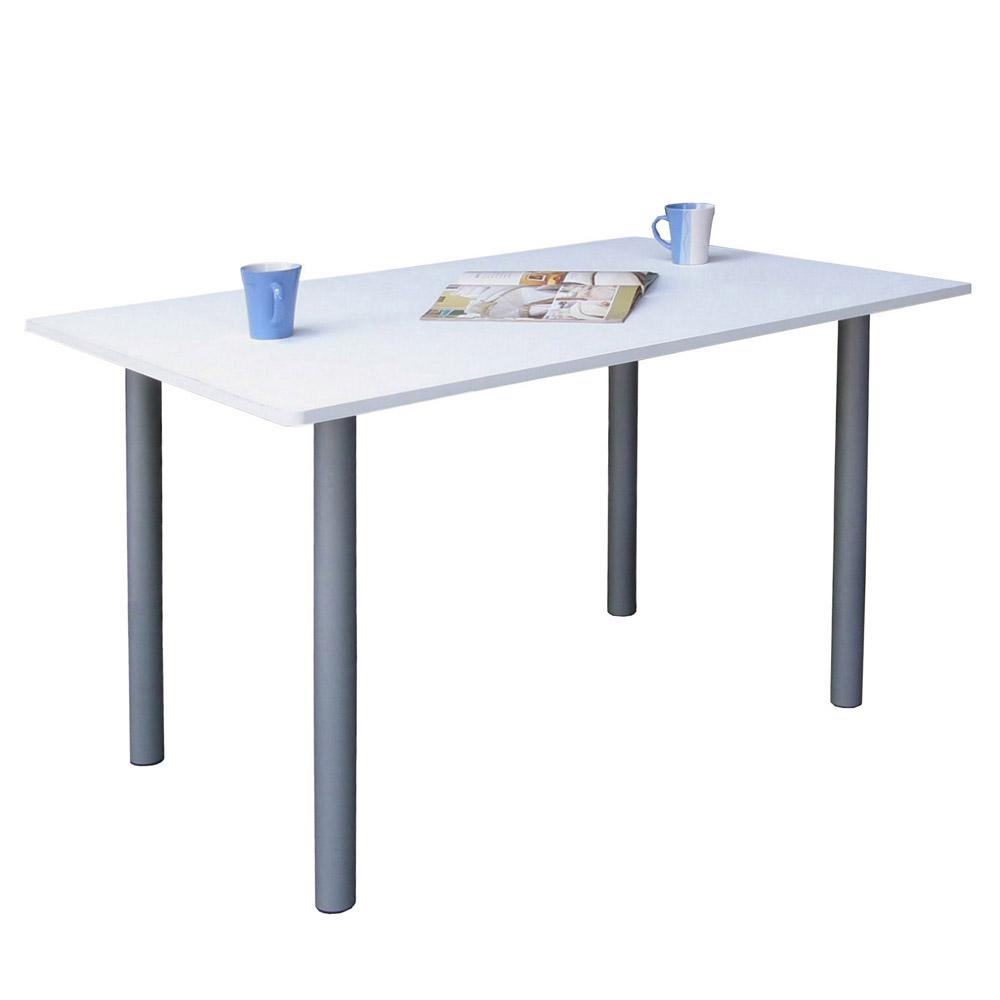 Dr. DIY 桌面60x120cm電腦桌-含鍵盤架 (素雅白色)