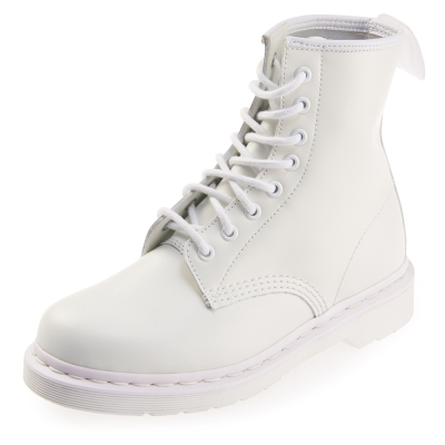 (女) Dr.Martens-經典1460 8孔亮面馬汀靴-白色