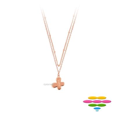 彩糖鑽工坊 蝴蝶玫瑰金項鍊 雙鍊項鍊 桃樂絲Doris系列