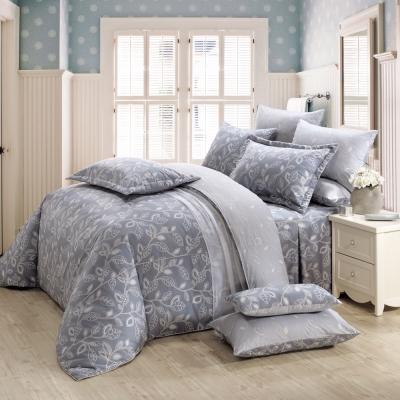 鴻宇HongYew 100%精梳棉 奧德曼 灰 雙人加大七件式兩用被床罩組