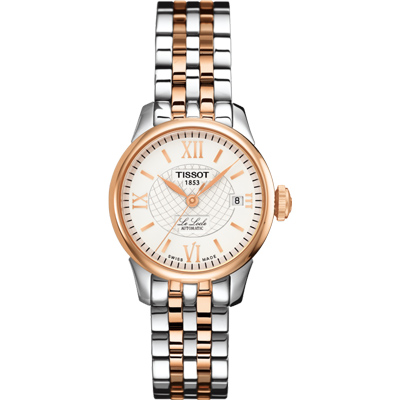TISSOT 天梭Le Locle 力洛克 機械女錶-銀x雙色-25.3mm